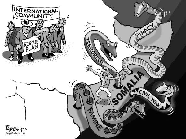 Paresh Nath - The Khaleej Times, UAE - Somalia rescue plan - English - Somalia, rescue plan, international community,Africa, piracy, terrorism,civil war, famine, snakes