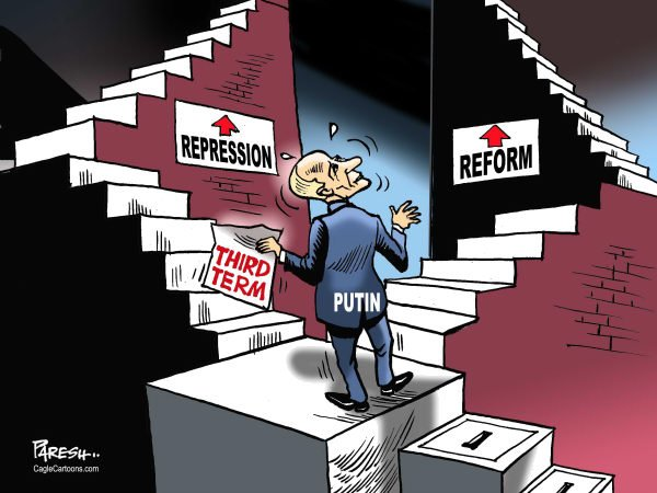 Paresh Nath - The Khaleej Times, UAE - Putin's third term - English - 		Putin,President,third term,Russia,choices,Repression,reform
