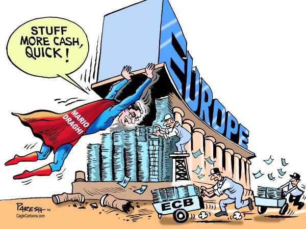 Paresh Nath - The Khaleej Times, UAE - Superman in Europe - English - Mario Draghi, ECB, European Banks,currency, stuffing, recession, Depression, Eurozone crisis,