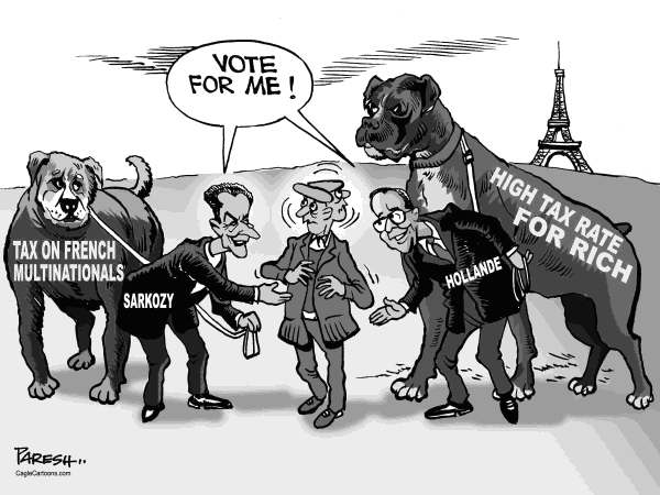Paresh Nath - The Khaleej Times, UAE - Tax and French poll - English - France, Presidential poll, Sarkozy, Hollande, Taxing Rich, Taxing multinationals, French Business men,dogs