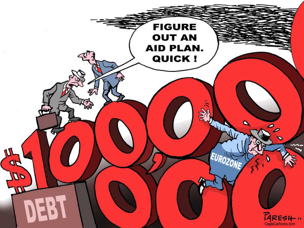 Paresh Nath - The Khaleej Times, UAE - Aid for Eurozone - English - bailout,Eurozone, debt figures,zero,aid plan, IMF, ECB, trapped