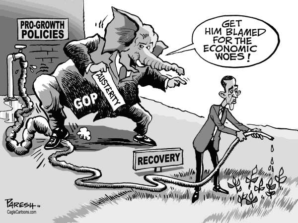 Paresh Nath - The Khaleej Times, UAE - GOP blames Obama - English - GOP, Republican party, USA Election2012,President,economic  crisis, pro-growth policies, economic recovery, Obama