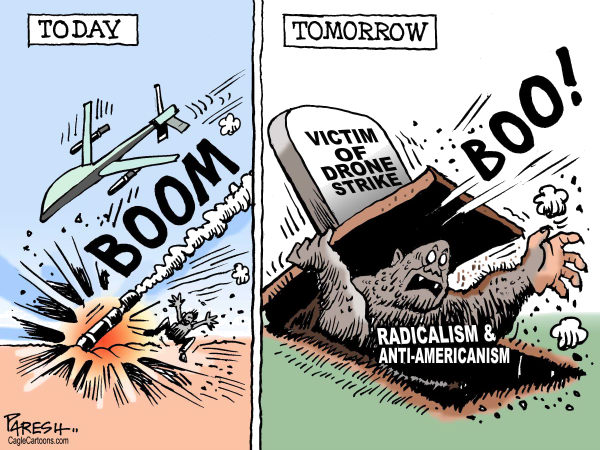 Paresh Nath - The Khaleej Times, UAE - Drone strike effects - English - Drone, Afghanistan war, Pakistan, islam, drone victim, islam radicalism, anti-americanism, grave, monster