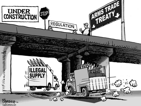 Paresh Nath - The Khaleej Times, UAE - Arms Trade treaty - English - Global arms, trade, illegal weapons, arms supply,regulation, under construction, rogue states