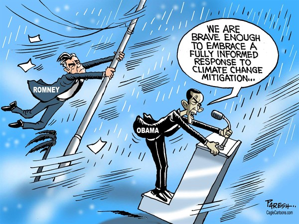 Paresh Nath - The Khaleej Times, UAE - Hurricane in US poll - English - Hurricane, Sandy,USA, weather,storm,Obama, Romney, climate change, mitigation, poll, voting