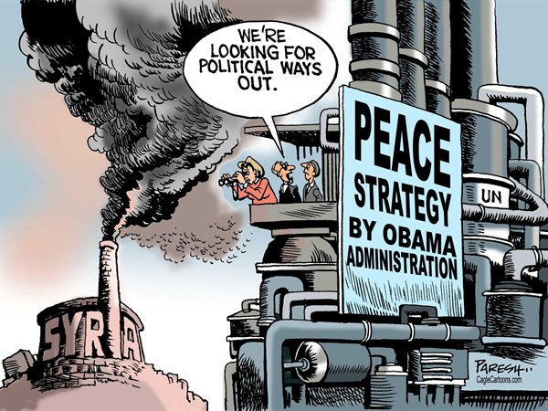 Paresh Nath - The Khaleej Times, UAE - Peace strategy for Syria COLOR - English - peace strategy, Syria, violence, civil war, Obama Administration,USA,foreign policy,UN on Syria, political way,Doha meeting, Rebels
