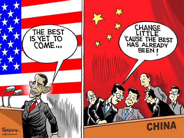 Paresh Nath - The Khaleej Times, UAE - Best in USA, China - English - USA, China, leadership, best yet to come, best already been,Obama, Hu Jintao, Xi Jinping, china congress, democracy, Communist capitalism