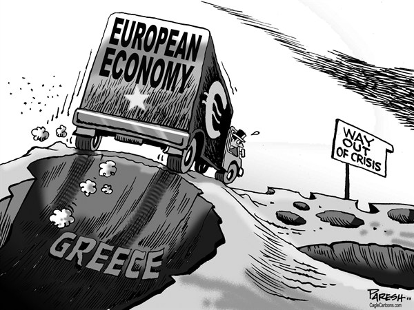 Paresh Nath - The Khaleej Times, UAE - European economy way - English - European economy, euro, debt crisis, potholes, Greece, bailout,way out
