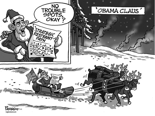 Paresh Nath - The Khaleej Times, UAE - Obama Claus - English -