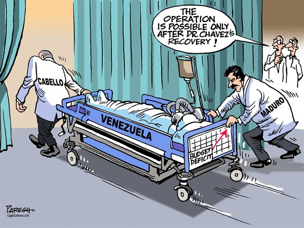 Paresh Nath - The Khaleej Times, UAE - Venezuela problem - English - Venezuela, Hugo Chavez, economy, budget deficit, Maduro, Cabello, hospital, treatment, recovery