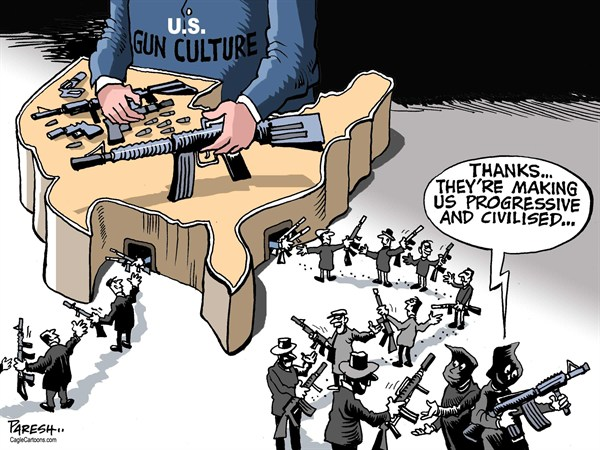 126828 600 Gun culture and militants cartoons