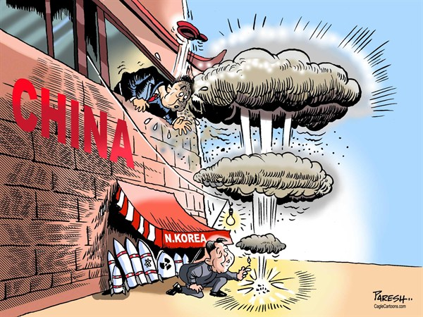 Paresh Nath - The Khaleej Times, UAE - NKorean test - English - North Korea, Kim Jong un, China, nuclear test, missiles,test for China, fire cracker