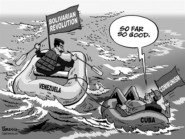 Paresh Nath - The Khaleej Times, UAE - Cuba and Venezuela - English - Cuba, Raul Castro, cuban communism, Venezuela, Maduro, Bolivarian revolution, floating economy, Latin America