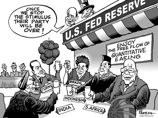Paresh Nath - The Khaleej Times, UAE - American stimulus - English - Fed Reserve, global economy, emerging markets, India, Brazil, Turkey, Indonesia, South Africa, Ben Bernanke, quantitative easing,stimulus, money for third world