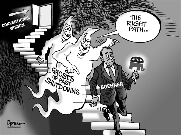 Paresh Nath - The Khaleej Times, UAE - Ghosts of shutdowns - English - past shutdowns, ghosts, US government, Boehner, Republican party, tea party,House Speaker, conventional wisdom