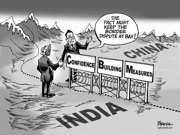 Paresh Nath - The Khaleej Times, UAE - India, China border pact - English - India-China border, agreement, Manmohan Singh, Li Keqiang, Premiers of China and India, border dispute, CBMs, confidence building measures