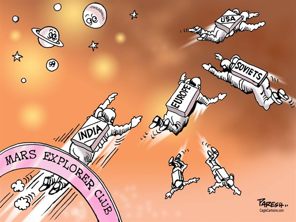 Paresh Nath - The Khaleej Times, UAE - India in MARS MISSION - English - Mars, space exploration, space odyssey, Mars mission, elite club, USA, Soviets, Europe, India, Mangalyaan