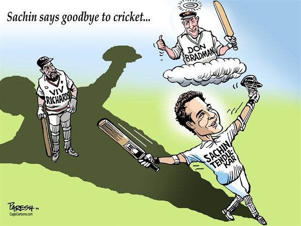140222 600 SACHIN Goodbye to CRICKET cartoons
