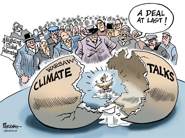 Paresh Nath - The Khaleej Times, UAE - Warsaw climate talks COLOR - English - UN climate talks, Warsaw, global arming, climate change, nations' concern, deal, heated talks, egg hatching