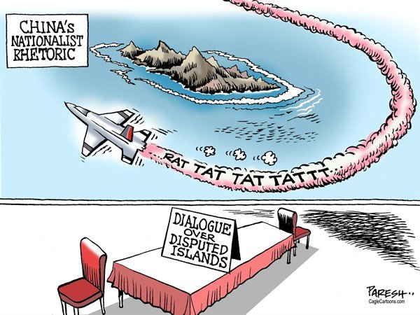 Paresh Nath - The Khaleej Times, UAE - China nationalistic rhetoric COLOR - English - China, Japan, Shenkaku islands, East China sea, territorial disputes, air defence zone, Chinese fighter, nationalistic rhetoric, dialogue