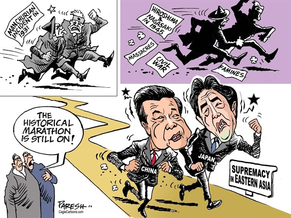 Paresh Nath - The Khaleej Times, UAE - China versus Japan COLOR - English - China, Japan, historical conflicts, Manchurian incident, Hiroshima, Nagasaki, Chinese civil war, femines, marathon, China, Japan dispute