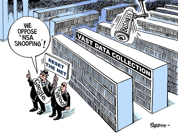 Reset the Net © Paresh Nath,The Khaleej Times, UAE,Internet, NSA snooping, Google, Yahoo, business model, data collection, users' privacy, netizens