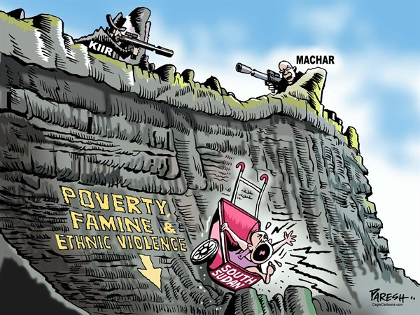 Paresh Nath - The Khaleej Times, UAE - South Sudan problem - English - South Sudan, third anniversary, Salva Kiir, Riek Machar, leaders' fight, African poverty, Famine, ethnic violence