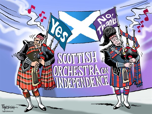 Scottish orchestra © Paresh Nath,The Khaleej Times, UAE,Scotland, independence, referendum, Yes vote, No supportrs, bagpipers, Scottish orchestra