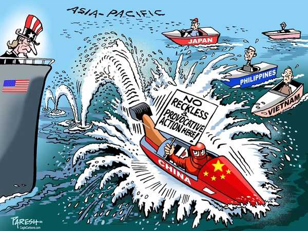 China and Asia Pacific © Paresh Nath,The Khaleej Times, UAE,USA, China, Japan, Philippines, Taiwan, Vietnam, Malaysia, South China sea, Asia-Pacific, US military power, US in Asia, Chinese provocation, reckless, assertive, China, international waters, maritime territory