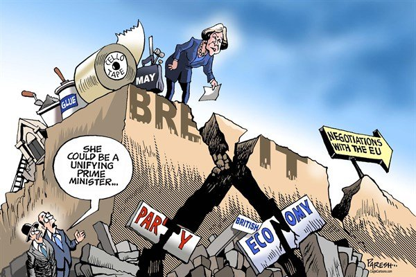 Paresh Nath - The Khaleej Times, UAE - Theresa May's challenges COLOR - English - UK, Britain, Brexit, new PM, Theresa May, Coservative party, British economy, Brexit negotiations, Article 50, stabilizing economy, uniting party, Brexit cracks, unifying PM