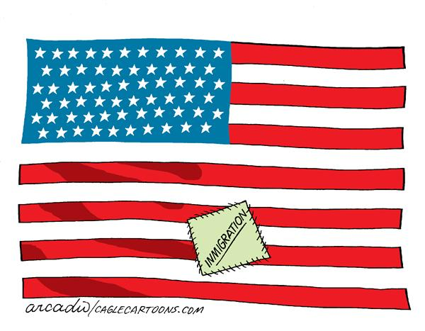 24597 600 American Flag Cartoons cartoons