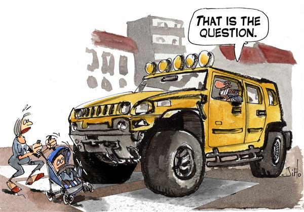 Jiho - France - SUV Question - English - children,pedestrian,accident,traffic,SUV,sport utility vehicle,Hummer