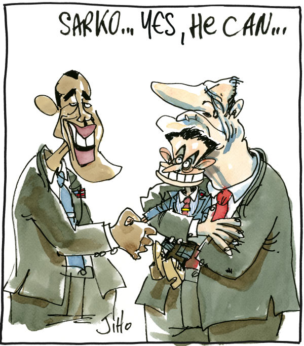 Jiho - France - Obama in France - English - 		France,Sarkozy,Obama,Nato