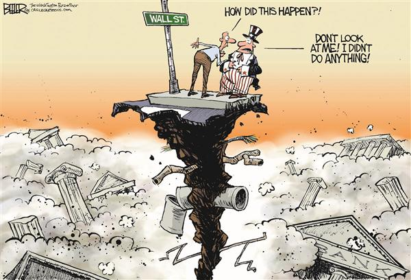 55493 600 Wall Street Collapse cartoons