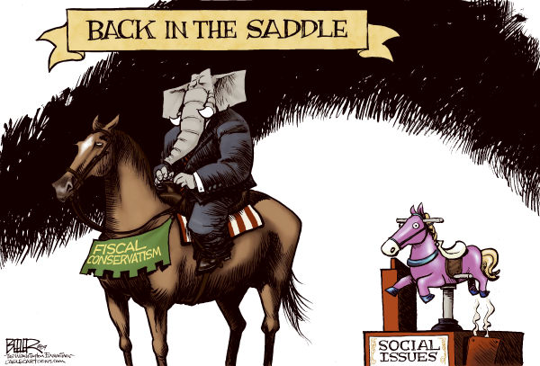 70900 600 GOP Back in the Saddle cartoons