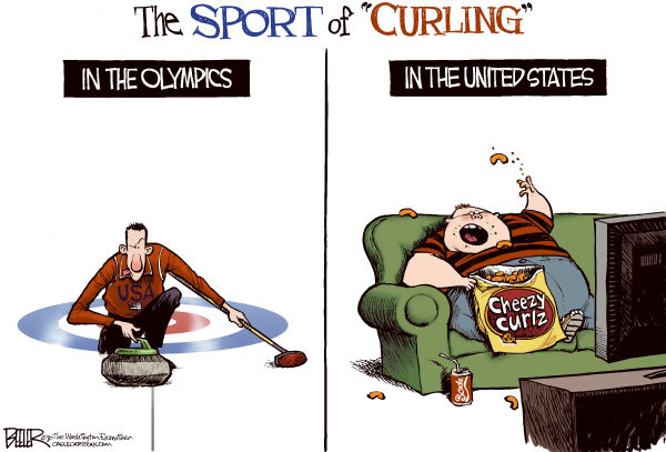 74858 600 Olympic Curling cartoons