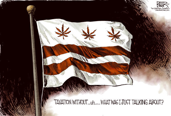 78021 600 LOCAL DC Gone to Pot cartoons