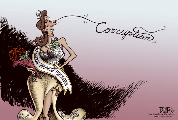 85705 600 LOCAL MD PG County Corruption cartoons