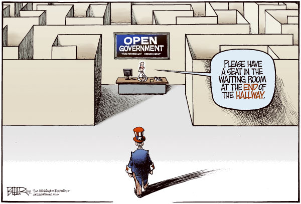 90576 600 Open Government Maze cartoons