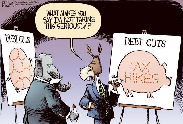 94662 600 Debt Cuts cartoons