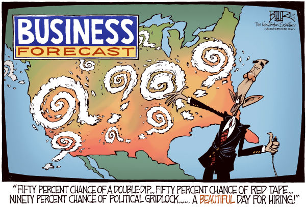 96663 600 Economic Weather Man cartoons
