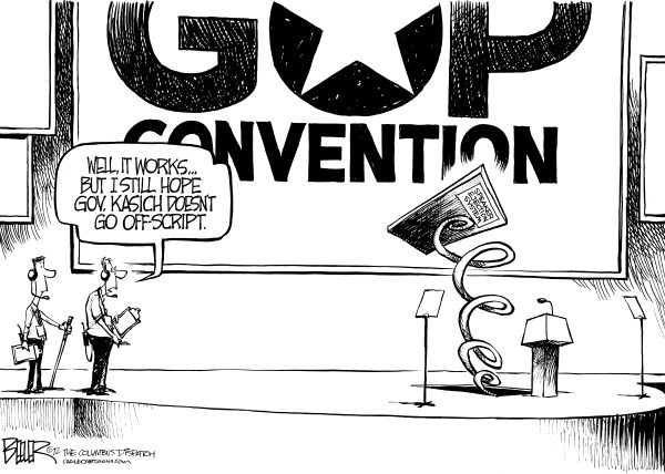 117824 600 LOCAL OH   Kasich at the Convention cartoons