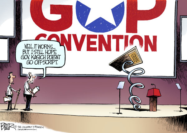 117826 600 LOCAL OH   Kasich at the Convention cartoons