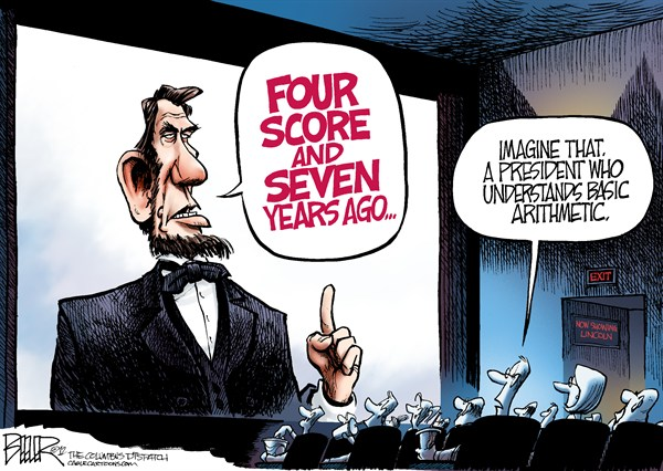 Arithmetic with Lincoln cartoon