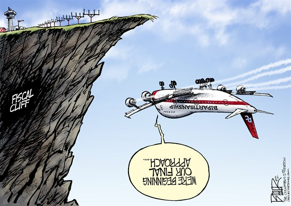 123079 600 Fiscal Cliff Approach cartoons