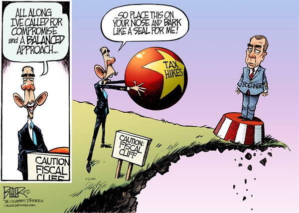 123270 600 Fiscal Cliff Compromise cartoons