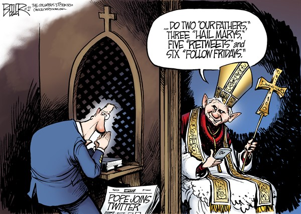 123372 600 The Pope Joins Twitter cartoons