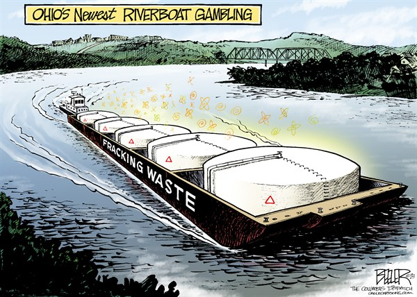 126012 600 LOCAL OH   Fracking Ferry cartoons
