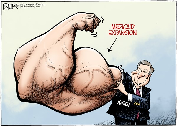 139126 600 LOCAL OH   Kasich Expansion cartoons