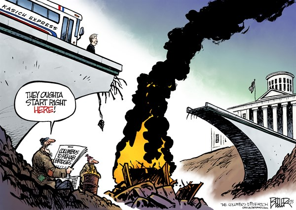 139469 600 LOCAL OH   Kasich Bridge cartoons
